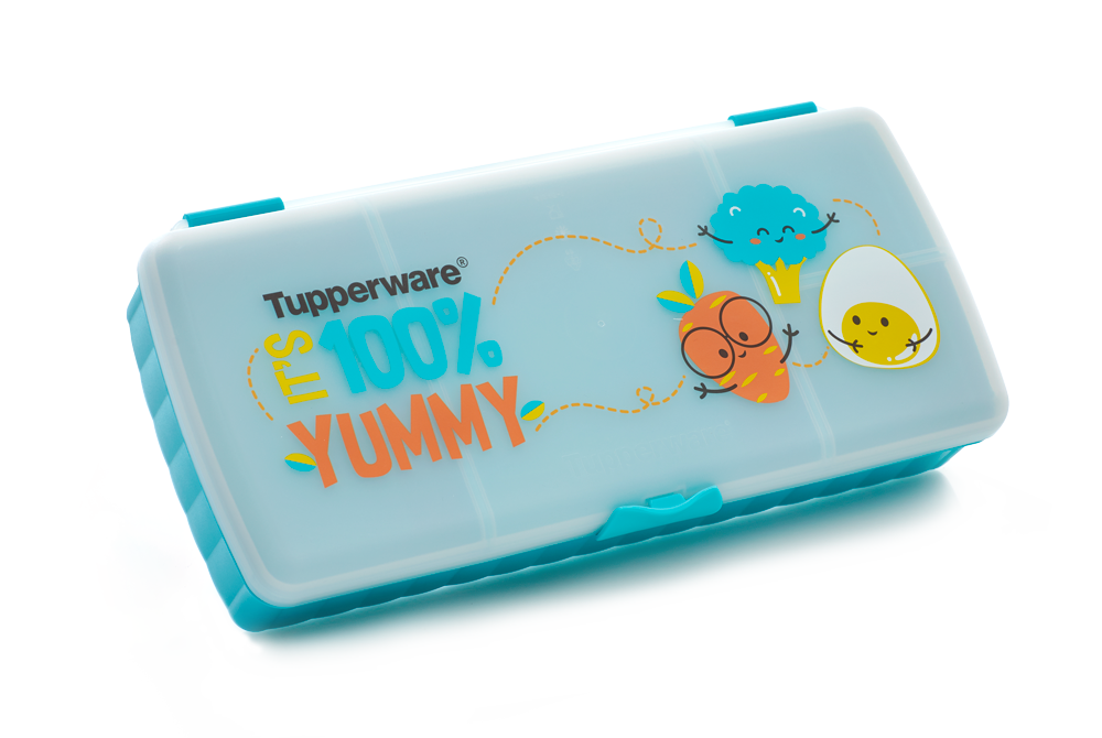 Tupperware Lunch Keeper - Happy Foodie, by Creative Clutters
