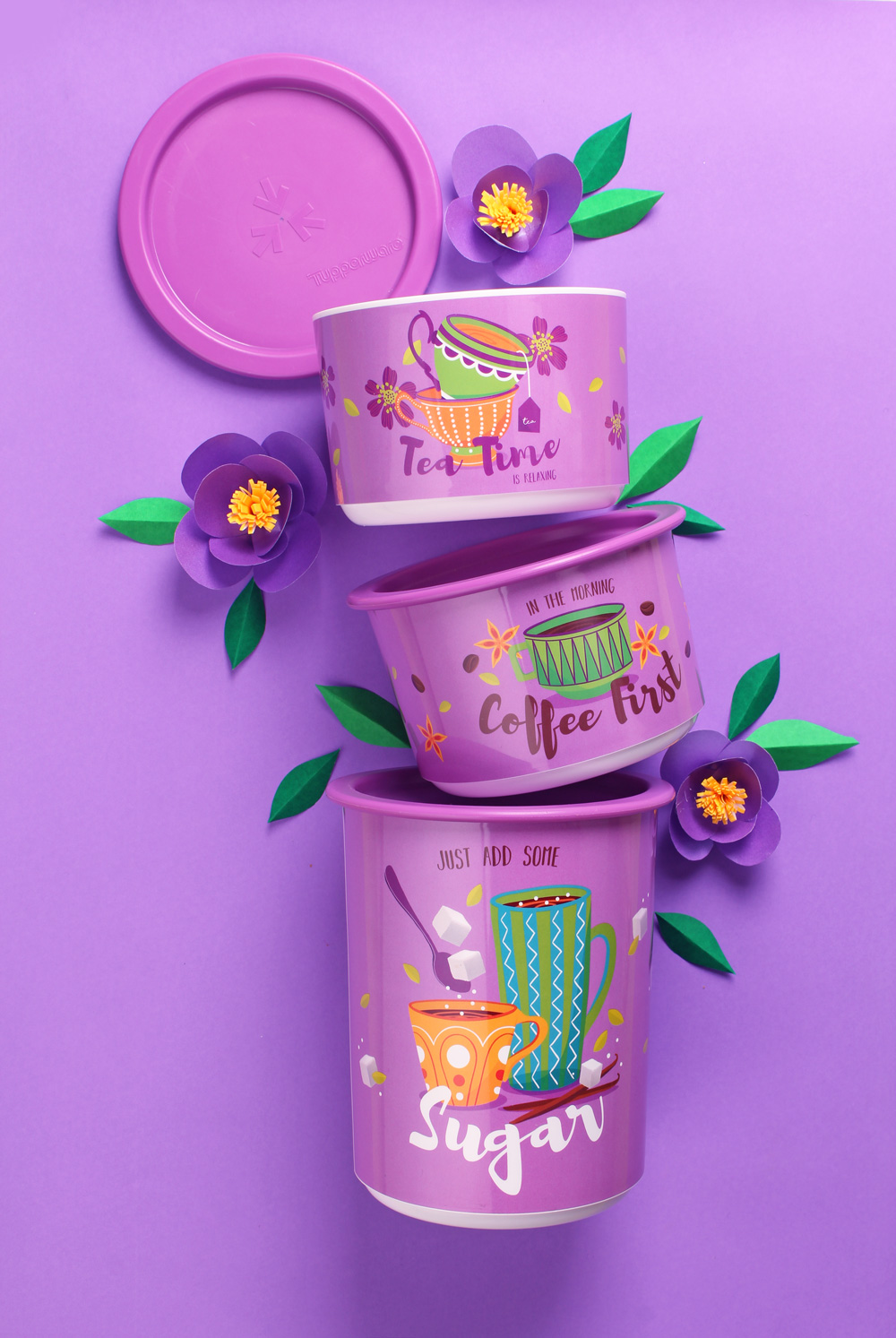 Tupperware Tea Time Canister, by Creative Clutters