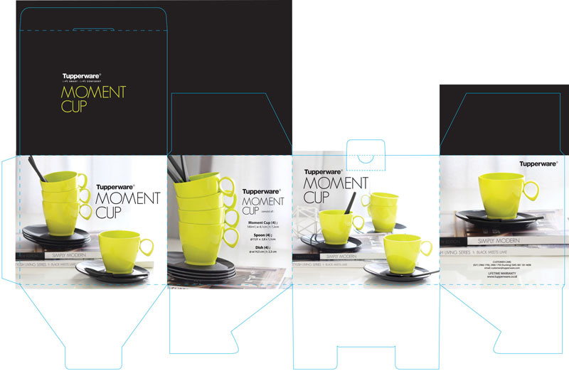Moment Cup - Black meets Lime Packaging Design , by Creative Clutters