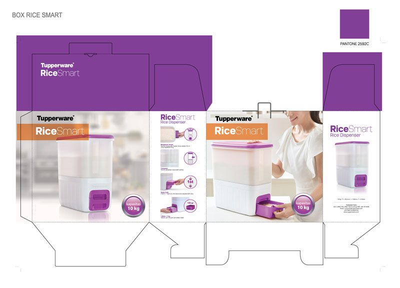 Rice Smart - Purple Edition, by Creative Clutters
