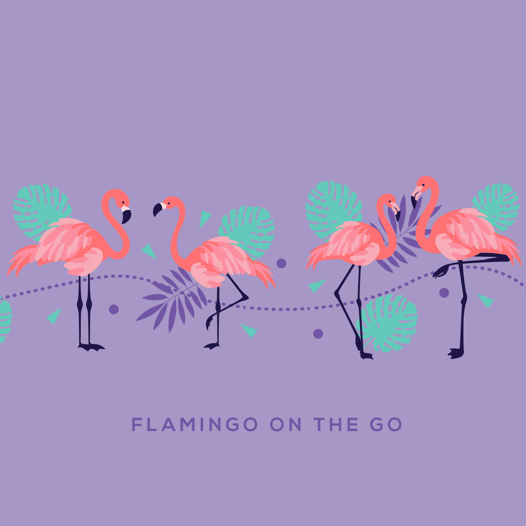 Flamingo On The Go, by Creative Clutters